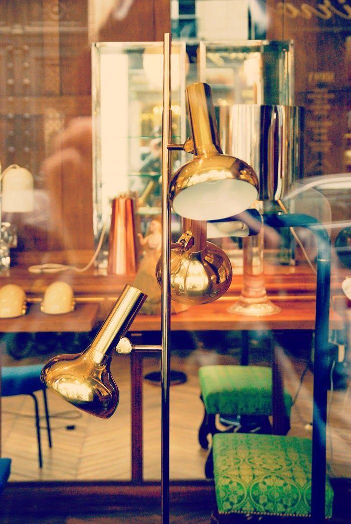 paris, vintage lamp, light, brass light, pariisi
