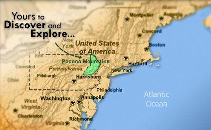 Map Of Poconoas Poconos Vacation Rentals Pocono Cabin