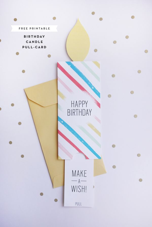 DIY Free Printable Birthday Pull-Card