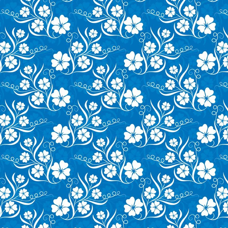 6 Blue Floral Pattern Backgrounds