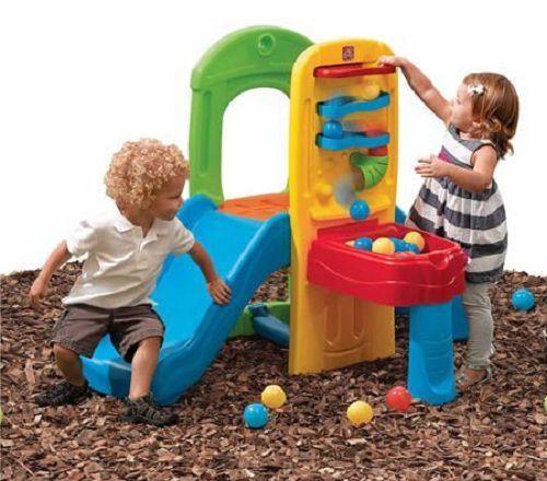 Step 2 Kids Toddler Playset Climber Slide Ball Maze Indoor Outdoor Fun Play Gym #Step2