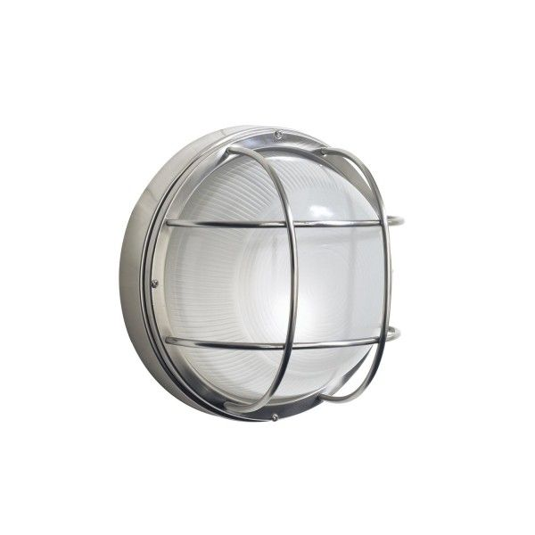 The Dar Lighting Salcombe Round Outdoor Wall Light Is A Designed Bulkhead In Stainless Steel Which Rated When Mounted Luxury Offer Vast