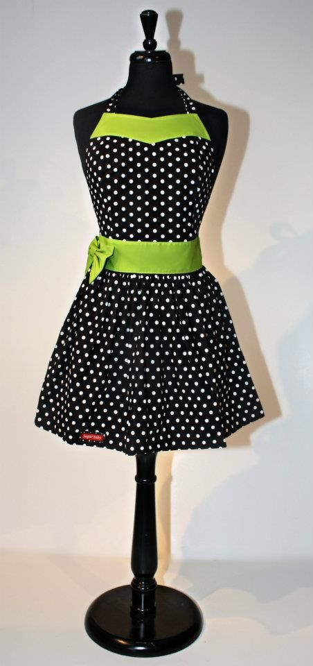 This is actually an apron, but the colors and style would be great for a sun dress!