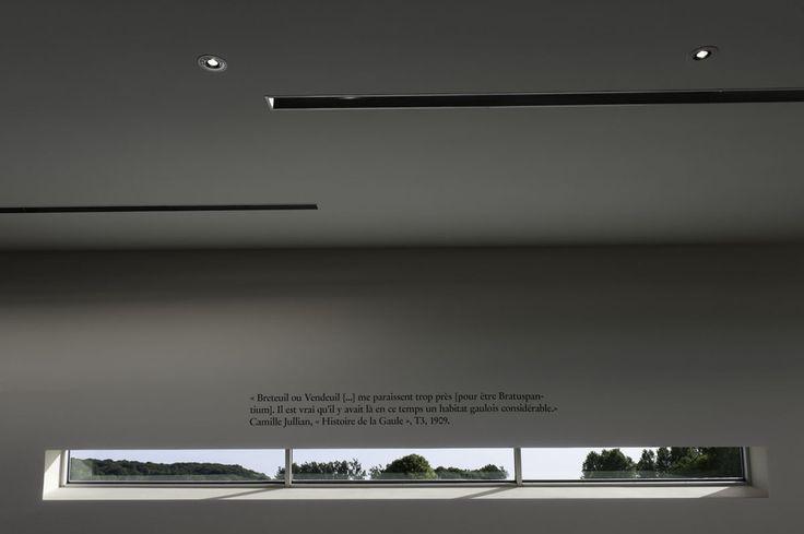 Détail du plafond de la salle d'exposition