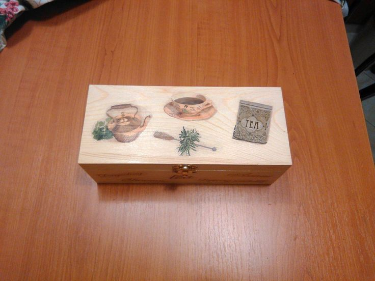 Nice decoupage wood teabox with classical decoration. It has 3 sections. Could be a nice gift. by DoriansSanctuary on Etsy
