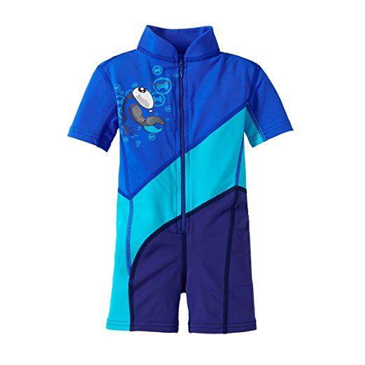 """HYPHEN UV- Anzug """"Krabbe"""" Baby-Bademode UV-Schutz-Kleidung, Größe 92/, blau"""