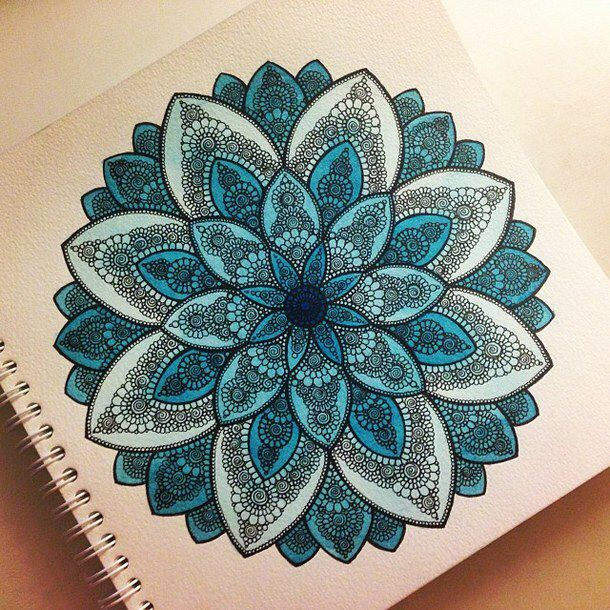 How to draw tumblr mandala