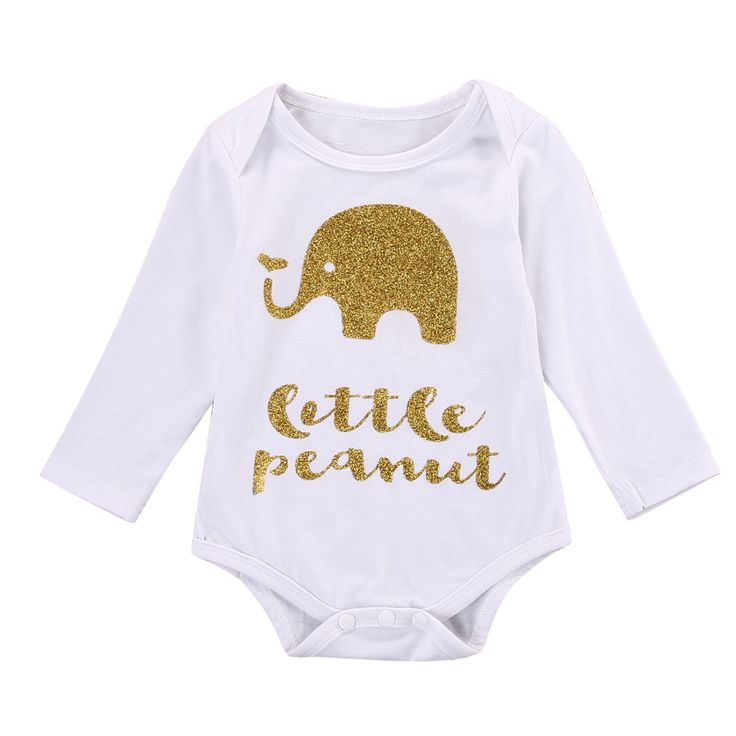 >> Click to Buy << 2016 Cotton Newborn Infant Baby Girl Boy Clothes Cute Elephant Animal Print Bodysuit Jumpsuit Playsuit Outfits 0-18M #Affiliate
