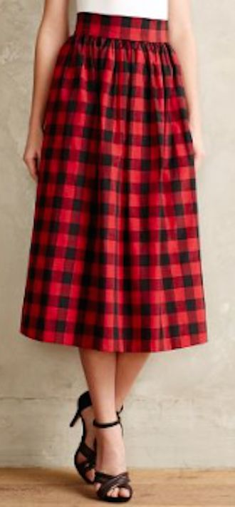 cute red plaid  midi skirt #anthrofave http://rstyle.me/n/s95wrr9te