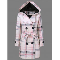 SHARE & Get it FREE | Tie Belt Hooded Plaid Woolen CoatFor Fashion Lovers only:80,000+ Items • FREE SHIPPING Join Twinkledeals: Get YOUR $50 NOW!