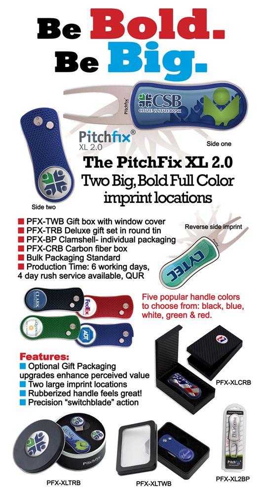 Be Big. Be bold. PitchFix XL 2.0. Email customercare@emteasy.com for a free sample with shipper #. http://emteasy.com/product-listing/PitchFix%C2%AE-Divot-Tools/5/148/0  #pitchfix #XL #golf #emt #emteasy #cusotm #colorful #bold #big #promotional #custom
