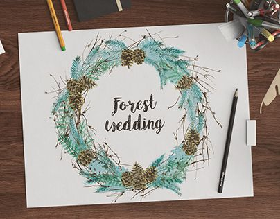 """Check out new work on my @Behance portfolio: """"Watercolor pinecones wreath"""" http://be.net/gallery/47318199/Watercolor-pinecones-wreath"""