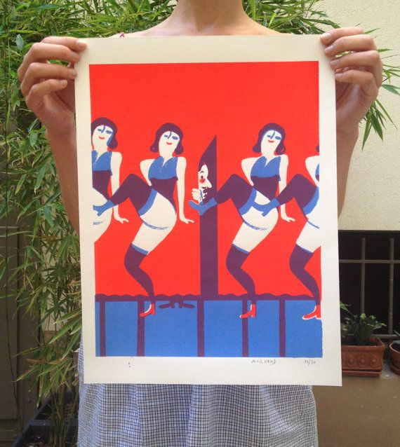 Poster / printing Kabaret by VirginieMorgand on Etsy, €50.00