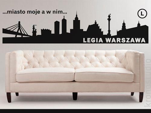 LEGIA WARSZAWA, naklejka na ścianę, Panorama