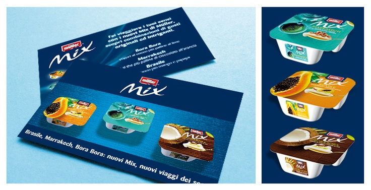 Muller: 3d packaging rendering and product flyer for instore promotion
