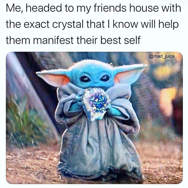 Online Crystal Jewelry Shop On Instagram Loving That Our Complete Crystal Sets Are Shipping Out Yoda Meme Star Wars Memes Yoda