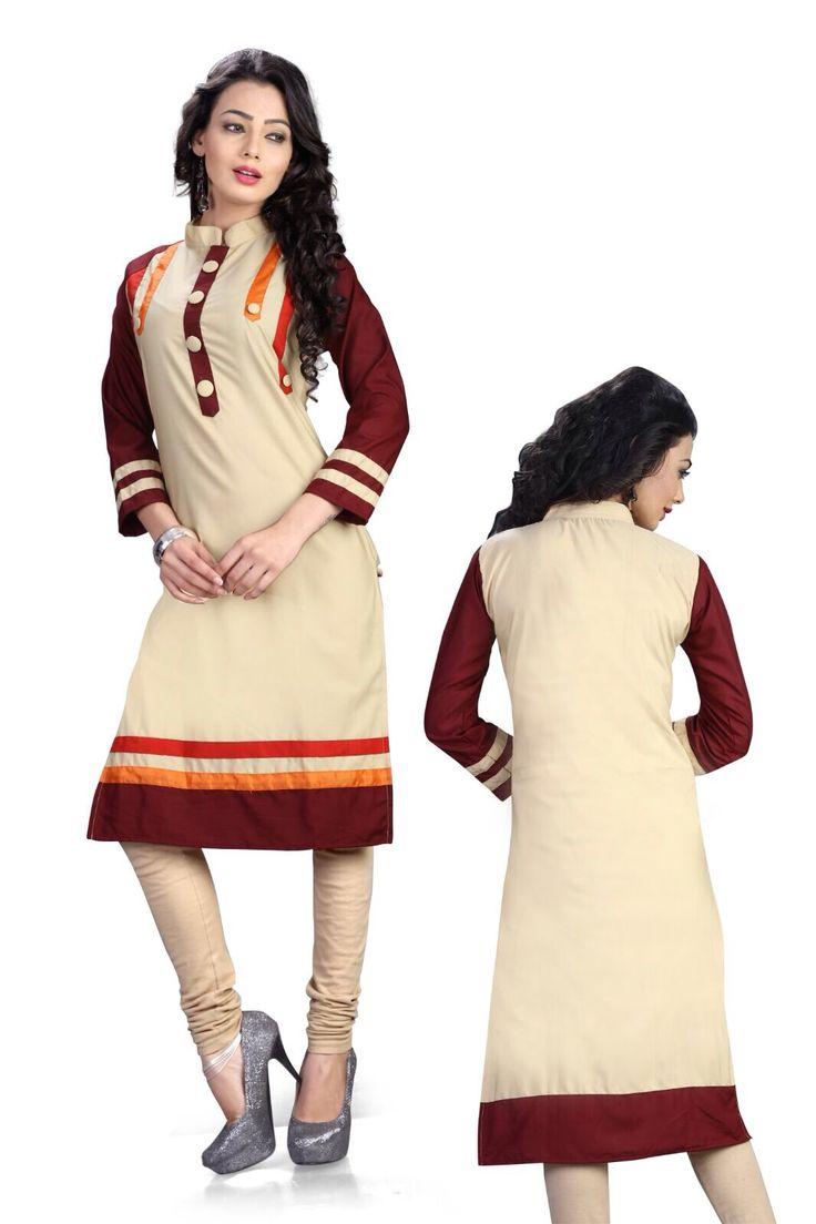 New Arrival Brown and Beige Color Designer Cotton KuriSF-507 Saiveera Fashion is Popular brand in Women Clothing in Surat. Saiveera Fashion is Produce many kind of Women's Clothes like Anarkali Salwar Suits, Straight Salwar Suits, Patiala Salwar Suits, Palazzos, Sarees, Leggings, Salwars, Kurtis, etc. For any Query Contact/Whatsapp on +91-8469103344.