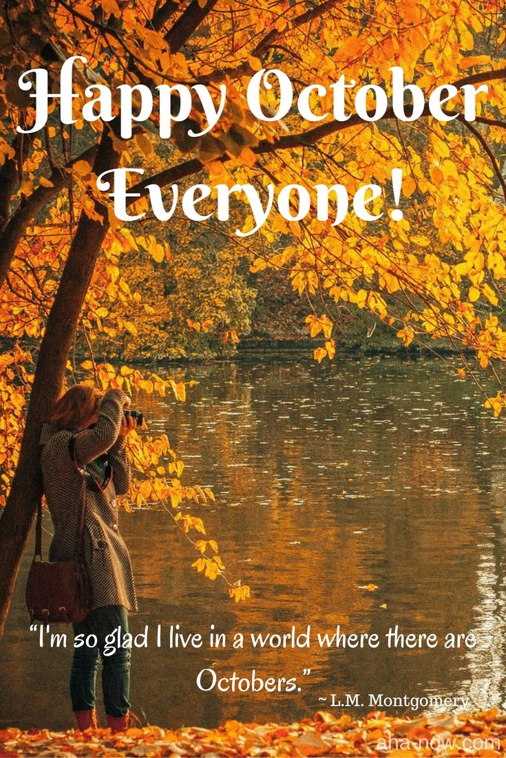 """Happy October everyone! """"I'm so glad I live in a world where there are Octobers."""" ~ L.M. Montgomery"""