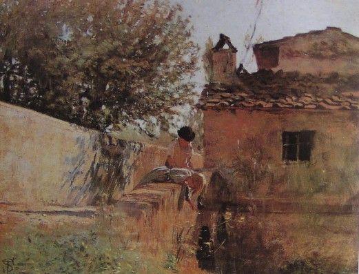 Telemaco Signorini - Member of The Macchiaioli