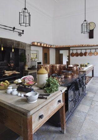 Great Kitchen at Saltram, Devon, UK. nationaltrustimages.org.uk