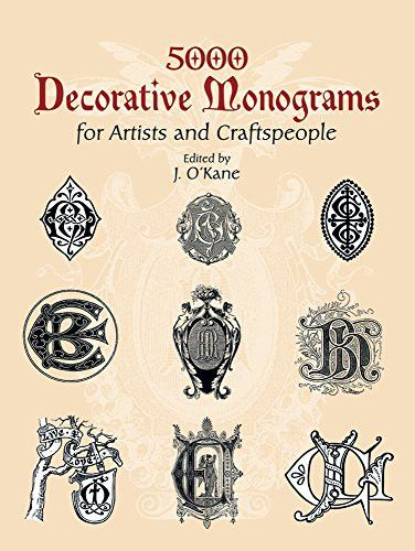 39 best type vintage books images on pinterest antique books 5000 decorative monograms for artists and craftspeople dover pictorial archive malvernweather Gallery