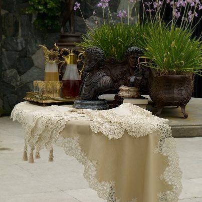 Beatiful tablecloths for beatiful houses... #dantell #dantellbrand #table design #idea #garden #hometextile #tablelinen #elegant
