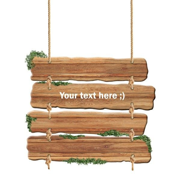XOO Plate :: Hanging Wooden Plank Sign PSD - Authentic wooden planks tied with natural rope to create a plaque or sign - just add your text - PSD 2364 ? 2854 px.