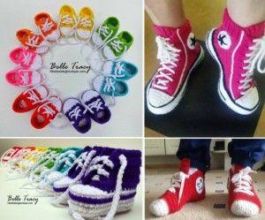Crochet Converse Slippers FREE Patterns