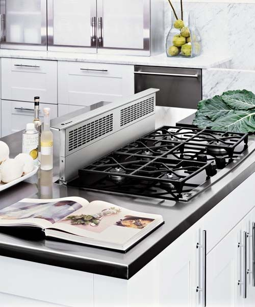 downdraft range hood mounted on kitchen island, All About Vent Hoods
