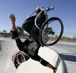 "overcoming disabilities | Aaron Fotheringham llama a su estilo ""Hardcore sitting"" (sentado ..."