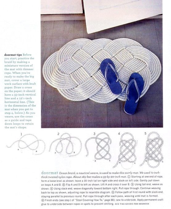 tangled rope rug tutorial nautical pinterest doors