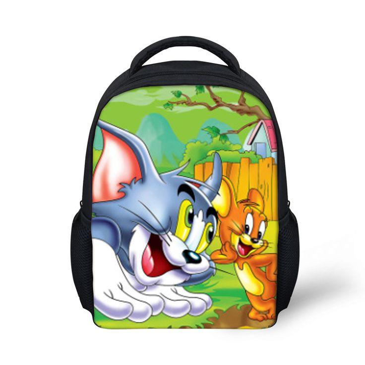 2017 New Design Children's Cartoon 3D Backpack for Boys,Tom and Jerry Kids School Backpacks,Hot Animal Cats and Mouse Backpack