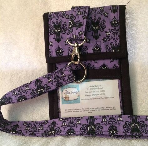 Neck Wallet, Badge Holder, Passport Holder, or Travel Wallet - Disney - Haunted Mansion by TheFrozenMouse on Etsy