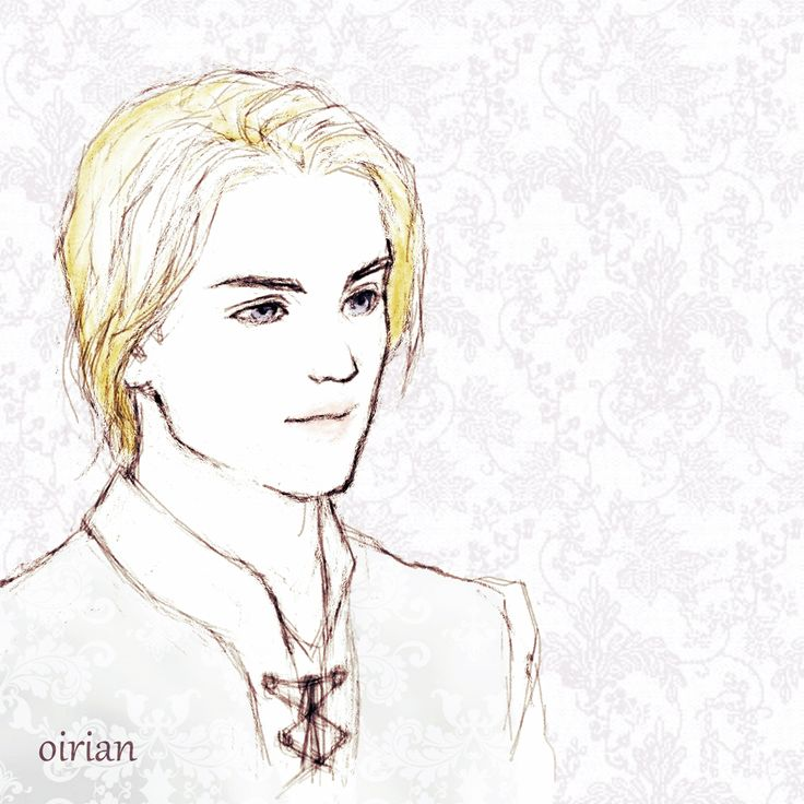 A tiny little sketch of how I imagined Laurent to look like in the Captive Prince books! They got me hooked ToT