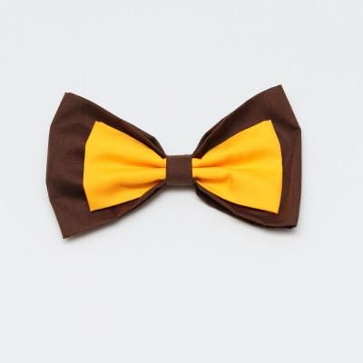 Brown and Gold Bow Large