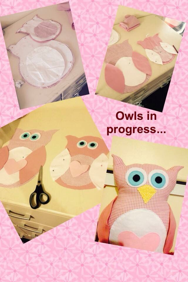 Working on my Owl cushions