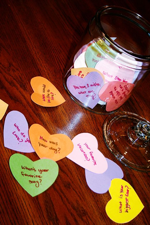Dinner Conversation Hearts Game - Family Talk Time during February
