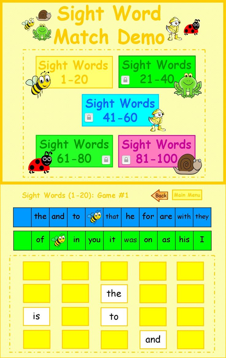 Freebie. Enjoy this free Sight Word Match Demo Game with your students. Sight Words Match is a fun interactive PowerPoint game similar to memory. In teams, students have to find the sight words that match their game board. The first team to match all their sight words wins. This game uses Fry's first 100 words. Perfect for Smartboards, Prometheans, Mimios, or other devices that have PowerPoint.