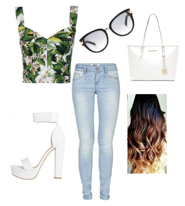 """Green and white look"" by kimmy1511 ❤ liked on Polyvore"