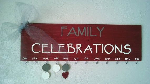 This Celebrations board is such a great way to remember the birthdays of all your loved ones, Anniversaries or other special family events! it
