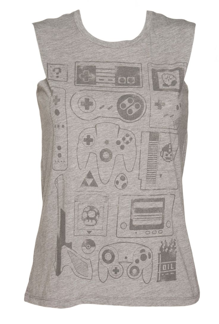 Ladies Old School Gamer #Sleeveless T-Shirt from TruffleShuffle xoxo #retro