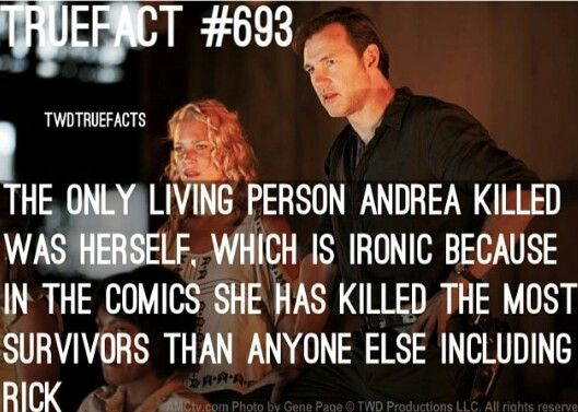 Wow this is really sad, they really messed up Andrea's character in the show.