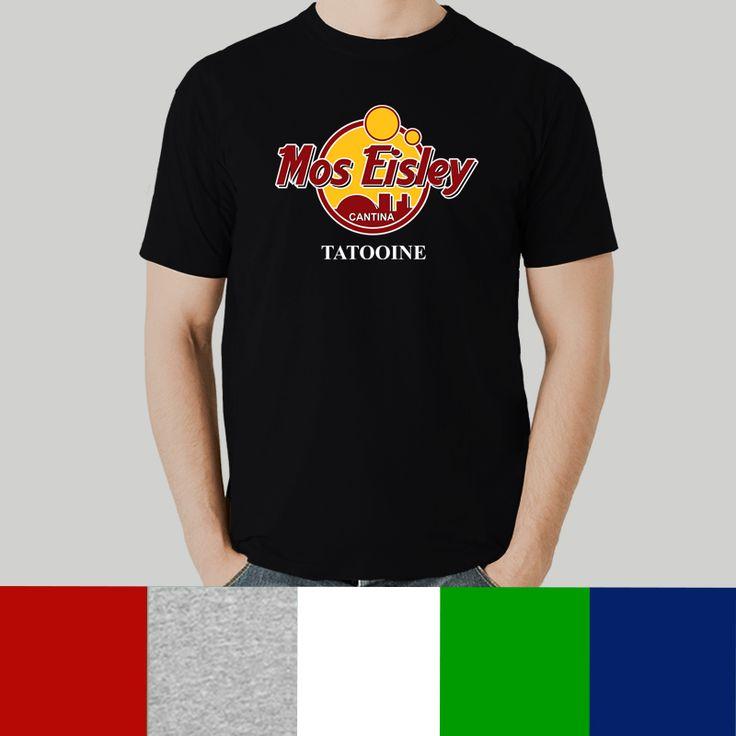 Camiseta hombre Mos Eisley Cantina, parodia Hard Rock Café, Star Wars - La guerra de las galaxias - Mos Eisley - Tatooine