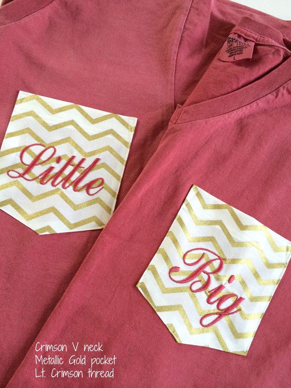 V-Neck T Shirts Sorority Big or Little Monogrammed by HamiltonHall