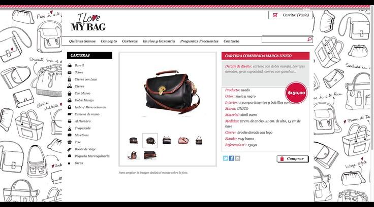 I Love My Bag: #Carteras http://www.ilovemybag.com.ar/products/cartera-combinada-marca-unico