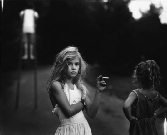 Another inspirational feminist artist is Sally Mann.  She is known for her disturbing photographs of her own children. #shock #photography