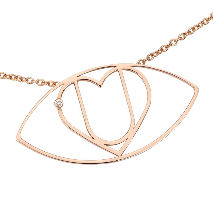 "Love and Flee from 'I Love You: The Project'  Wrap our ""I Love You"" Symbol around your neck with this delicate necklace in pink gold, with a heart adorned with one diamond.   #iloveyou #luxury #luxuryjewellery #diamonds #luxurynecklace #love #gold #jewellery #necklace"