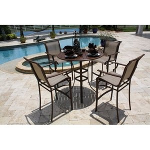 What A Beautiful Setting For This Nice Bar Height Patio Furniture Set To  Chillax Out In