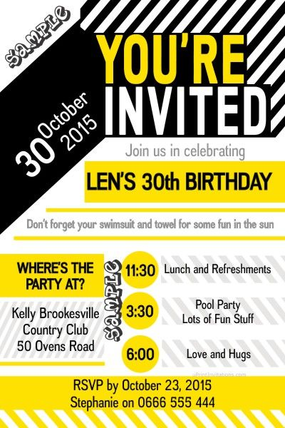 Best Adult Birthday Party Invitations Images On Pinterest - Birthday invitation software free download