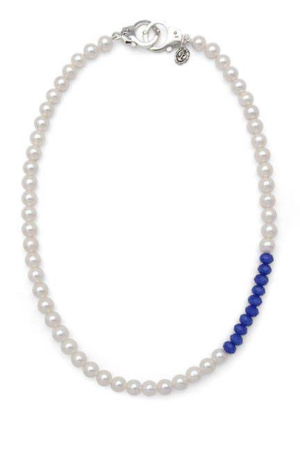 Anthony Dreyer Blue Color Block necklace, $350; pearlcollective.com   - ELLE.com